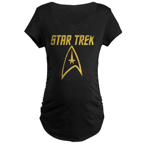 Vintage Star Trek Maternity Dark T-Shirt