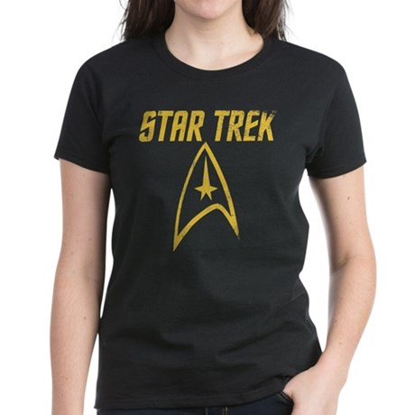 Vintage Star Trek Women's Dark T-Shirt