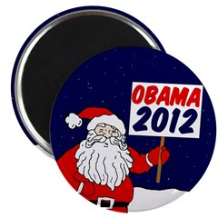 Santa Claus for Obama 2012 Magnet