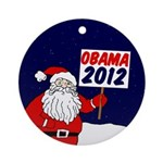 Santa for Obama 2012 Xmas Ornament