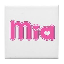 """""""Mia"""" Tile Coaster"""