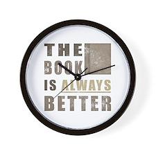 Book Humor Wall Clock