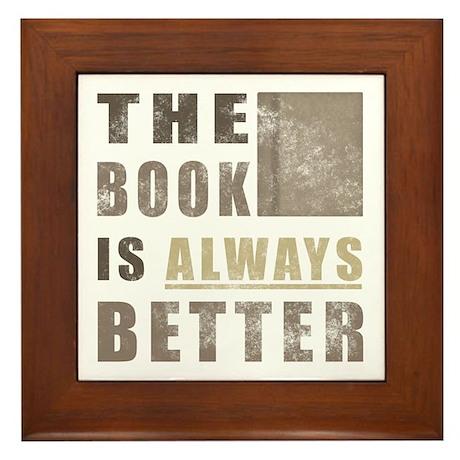 Book Humor Framed Tile