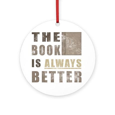 Book Humor Ornament (Round)