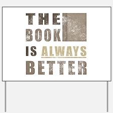 Book Humor Yard Sign