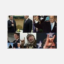 World leader horned hand magnet