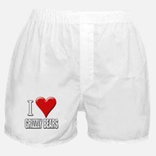 I Love (Heart) Grizzly Bears Boxer Shorts