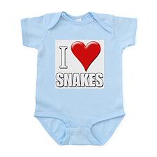 I Love (Heart) Snakes Infant Creeper