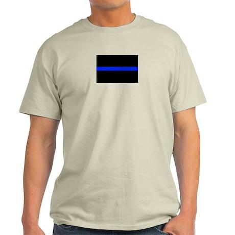 Thin Blue Line Ash Grey T-Shirt