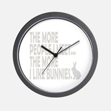 THE MORE PEOPLE I MEET... THE Wall Clock