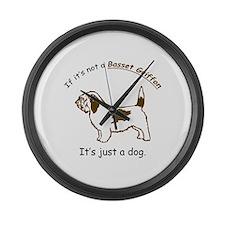 Basset Griffon Large Wall Clock