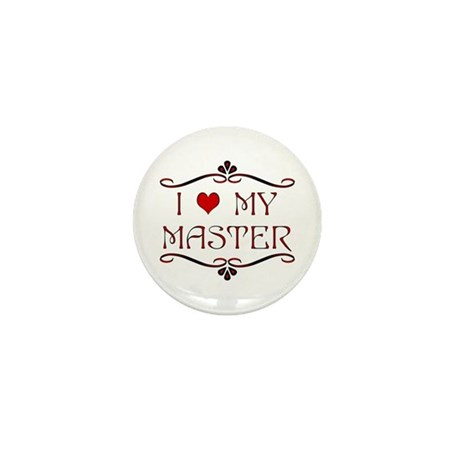 'I Love My Master' Mini Button (10 pack)