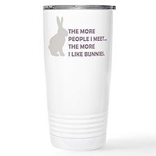 THE MORE PEOPLE I MEET THE MO Travel Mug