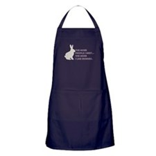 THE MORE PEOPLE I MEET THE MO Apron (dark)