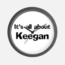 It's all about Keegan Wall Clock