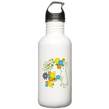 flower bunny Water Bottle