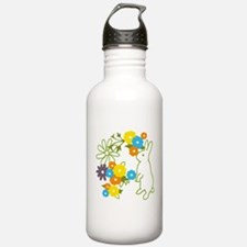 flower bunny Water Bottle