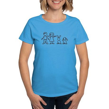 2 bunnies family Women's Dark T-Shirt