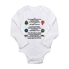 Independent Thinker Long Sleeve Infant Bodysuit