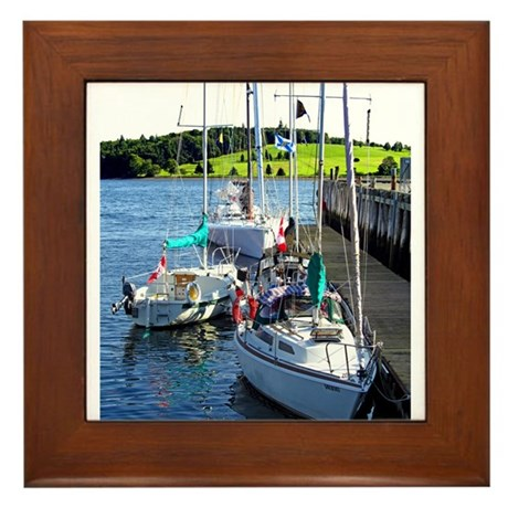 A Quiet Berth Framed Tile