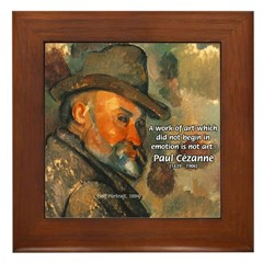 Cezanne Emotion Artistic Quote Framed Tile