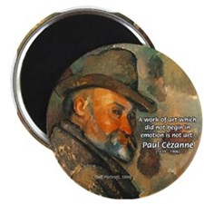 """Cezanne Emotion Artistic Quote 2.25"""" Magnet (10 pa"""