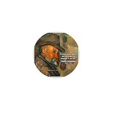 Cezanne Emotion Artistic Quote Mini Button (10 pac
