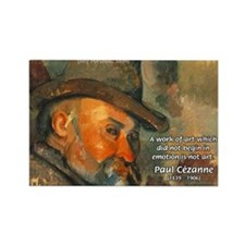 Cezanne Emotion Artistic Quote Rectangle Magnet