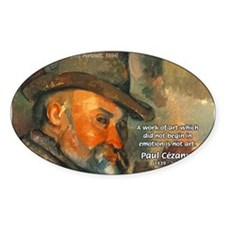 Cezanne Emotion Artistic Quote Oval Decal