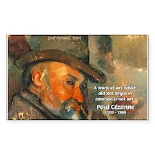 Cezanne Emotion Artistic Quote Sticker (Rectangula