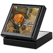 Cezanne Emotion Artistic Quote Keepsake Box