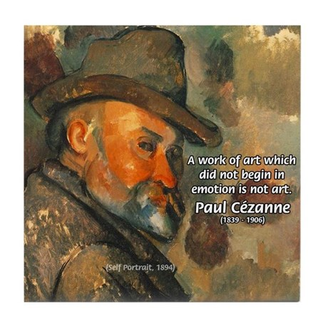 Cezanne Emotion Artistic Quote Tile Coaster