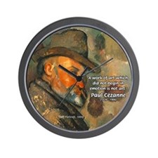 Cezanne Emotion Artistic Quote Wall Clock