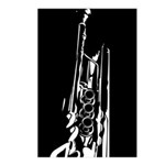 Abstract Jazz Trumpet Postcard (Pk of 8)