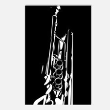 Abstract Jazz Trumpet Postcard (Pk of 8)
