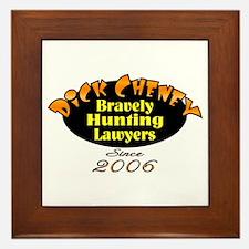 Cheney Hunting Lawers 2006 Framed Tile