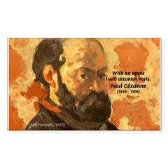 Cezanne Famous Paris Quote Rectangle Decal
