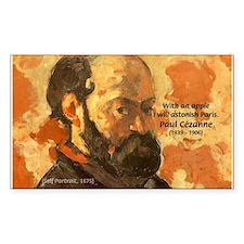 Cezanne Famous Paris Quote Rectangle Decal