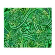 Celtic Triskele Throw Blanket
