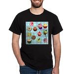 Polka Dot Cupcakes Dark T-Shirt