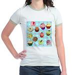 Polka Dot Cupcakes Jr. Ringer T-Shirt