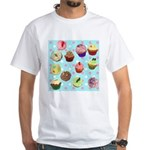 Polka Dot Cupcakes White T-Shirt