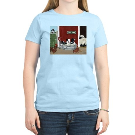 Collie Pool Party Women's Light T-Shirt