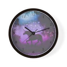 Enchanted Unicorn Wall Clock