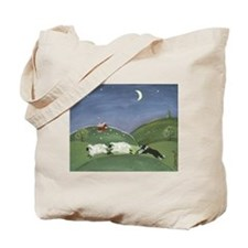 Cute Working border collie Tote Bag