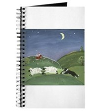 Cute Border collie herding Journal