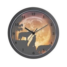 Wolves Peak Wall Clock