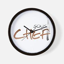Orange Sous Chef Wall Clock