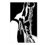 Jazz Trumpet Player Postcard (Pk of 8)