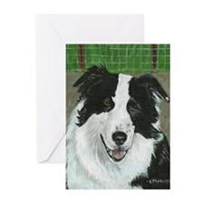 Border Collie Head Greeting Cards (Pk of 20)